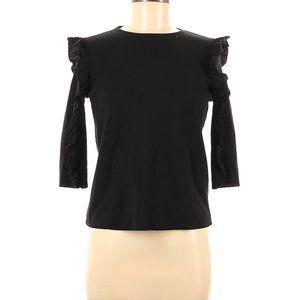 Zara Ruffle Shoulder Cotton Top